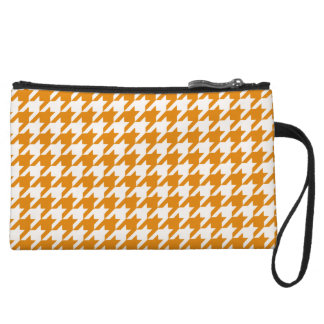 Burnt Orange Houndstooth 1 Wristlet Purses