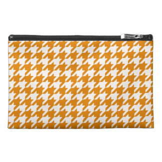 Burnt Orange Houndstooth 1 Travel Accessories Bag