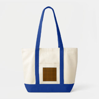 Burnt Orange Houndstooth 2 Impulse Tote Bag