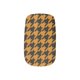 Burnt Orange Houndstooth 2 Nails Sticker