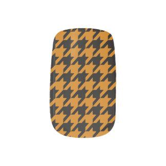 Burnt Orange Houndstooth 2 Nails Sticker