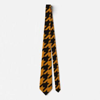 Burnt Orange Houndstooth 2 Tie