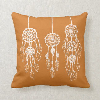 Burnt Orange Illustrated Bohemian Dreamcatchers Cushion
