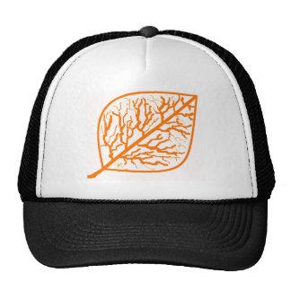 Burnt Orange Leaf Hat