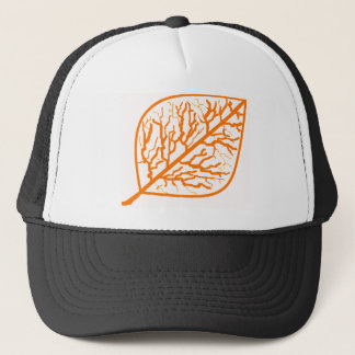 Burnt Orange Leaf Trucker Hat