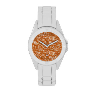Burnt Orange Paisley; Floral Watches