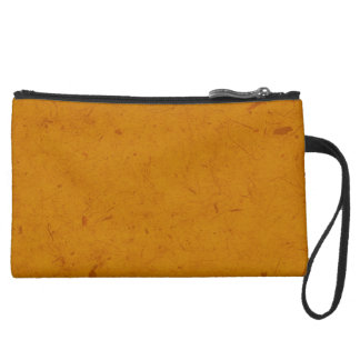 Burnt Orange Papyrus Wristlet Clutch