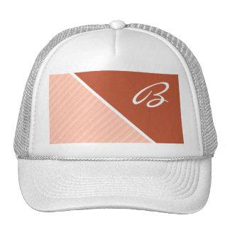 Burnt Orange, Peach Hats