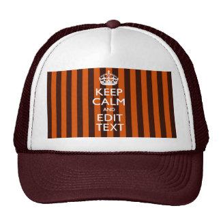 Burnt Orange Personalize This Keep Calm Classic Cap