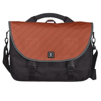 Burnt Orange Stripes, Striped Bag For Laptop