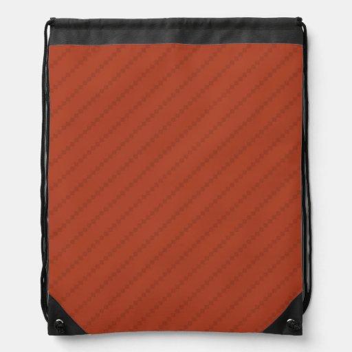 Burnt Orange Stripes, Striped Cinch Bag