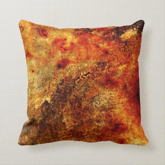 Burnt Orange Tan Abstract Throw Pillow