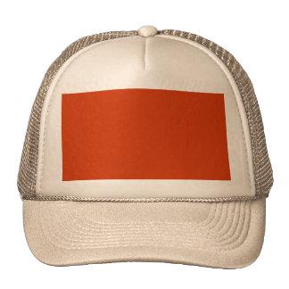 Burnt Orange Template Trucker Hat