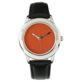 Burnt Orange Template Wrist Watches
