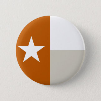 Burnt Orange Texas Flag Button