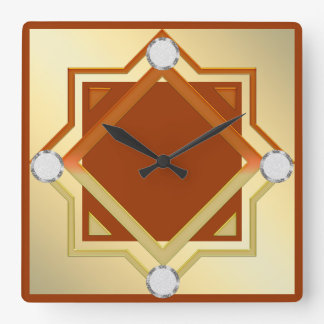 Burnt Orange Toned Wall Clock