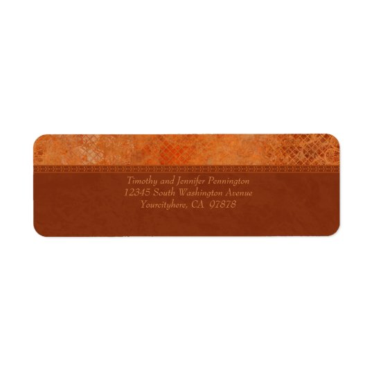 Burnt orange vintage elegant address labels