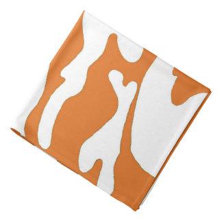 Burnt Orange White Camouflage Texas Bandana