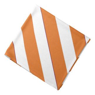 Burnt Orange White Texas Striped Bandana