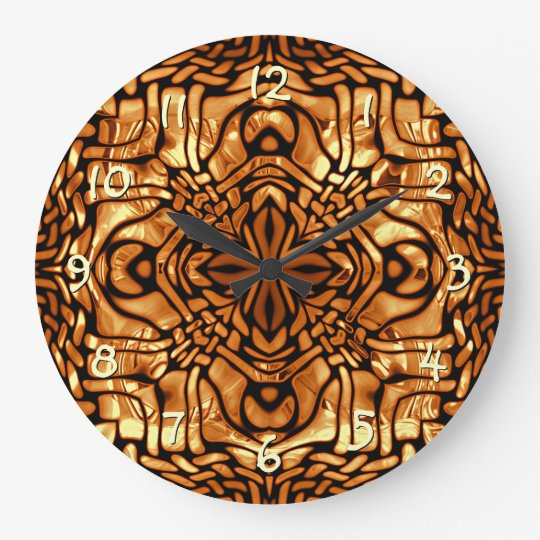 Burnt Orange Yellow Brown African Mosaic Pattern Large