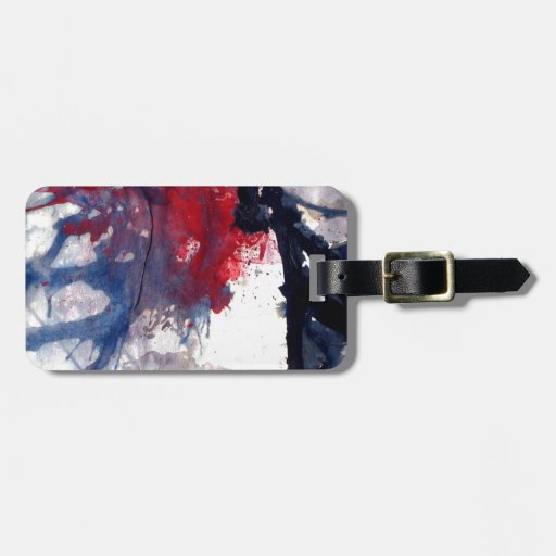 burnt out match stick's luggage tag