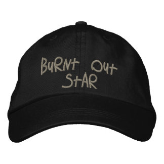 Burnt Out Star by CRaPUSA Embroidered Cap