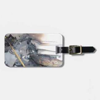 Burnt Papers Luggage Tags