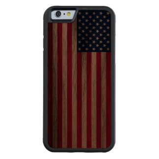 Burnt Patriotic USA American Flag iPhone 6 Case US Walnut iPhone 6 Bumper Case