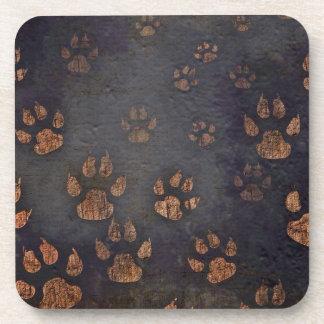 Burnt Paw Prints Coaster