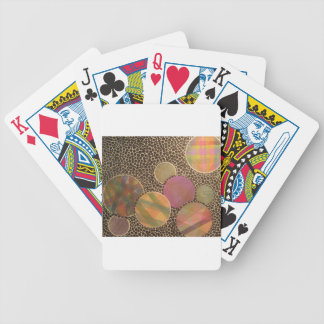 burnt plaid bicycle playing cards