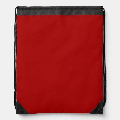 Burnt Red Drawstring Backpacks