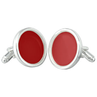 Burnt Red Solid Color Cufflinks