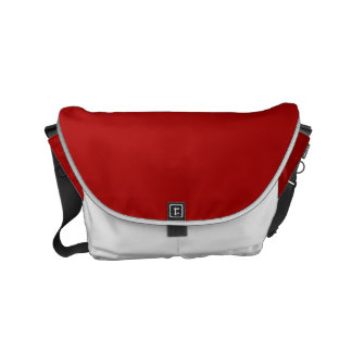 Burnt Red Solid Color Messenger Bags