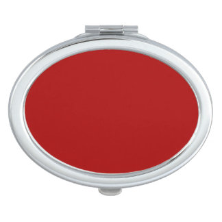 Burnt Red Solid Color Mirrors For Makeup