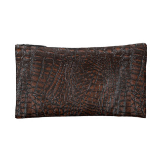 Burnt Rustic Leather3 Cosmetic Bags