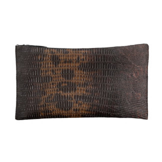 Burnt Rustic Leather 5 Cosmetic Bags