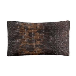 Burnt Rustic Leather 5 Makeup Bag
