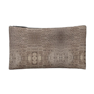 Burnt Rustic Leather Makeup Bag