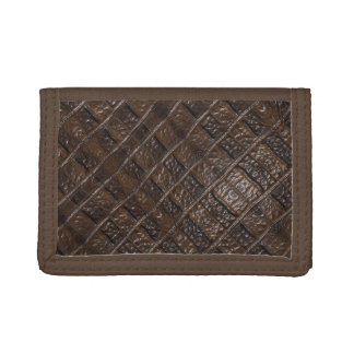 Burnt Rustic Leather Trifold Wallet