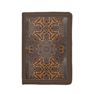 Burnt Rustic Leather Wallet