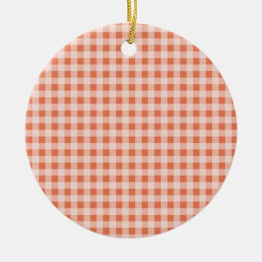 Burnt Sienna Gingham; Checkered Ornaments