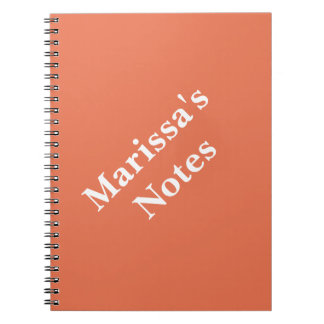 Burnt Sienna Personalizable Primary School Note Books