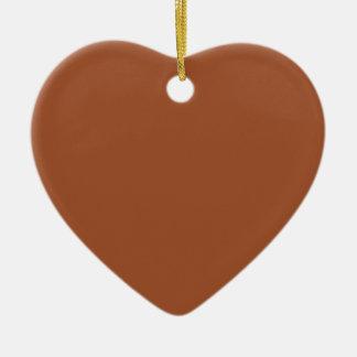 Burnt Sienna Solid Color Ceramic Heart Decoration