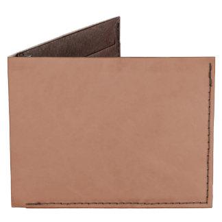 Burnt Sienna Solid Color Billfold Wallet