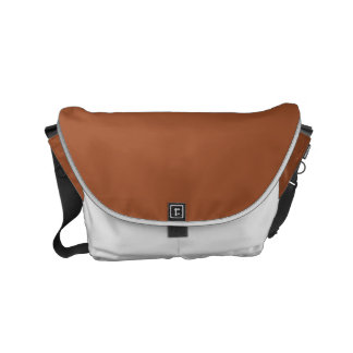 Burnt Sienna Solid Color Courier Bags