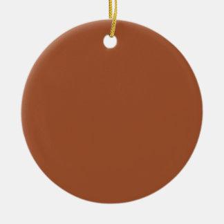 Burnt Sienna Solid Color Round Ceramic Decoration