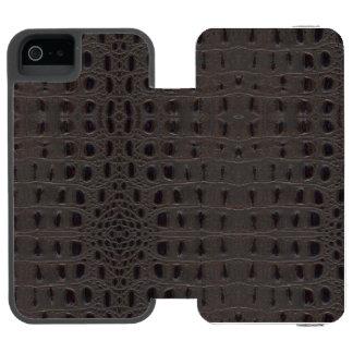 Burnt Snake Skin Leather Case 2b - Incipio Watson™ iPhone 5 Wallet Case