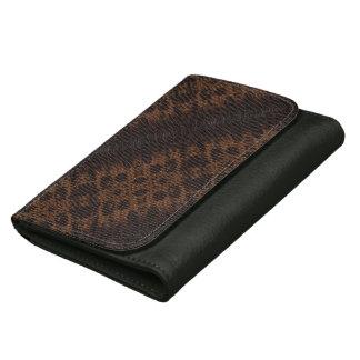 Burnt Snake Skin Leather Purse 4a - Wallets