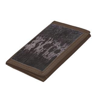 Burnt Snake Skin Leather Wallet 2a -
