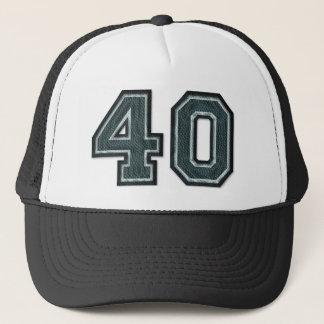 Burnt Teal Number 40 Trucker Hat
